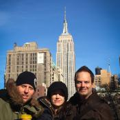 Patrick Ortman (right) in New York City directing a thing