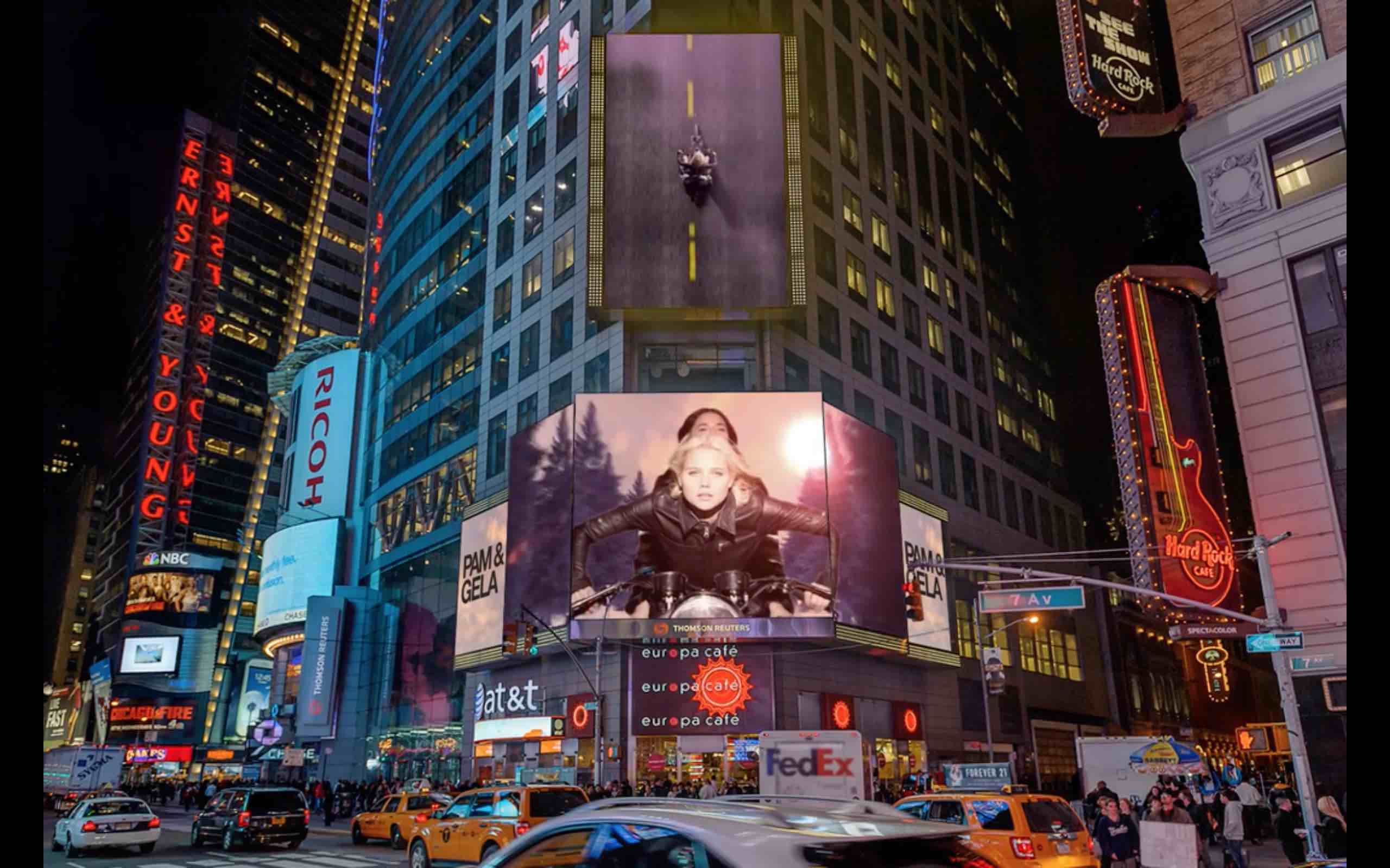 PAM & GELA #I'M NOT SORRY. Times Square Billboard Capmpaign