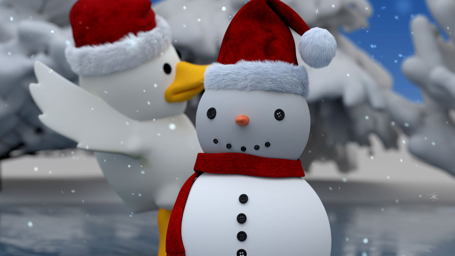 Duck & Snowman's Christmas Adventure