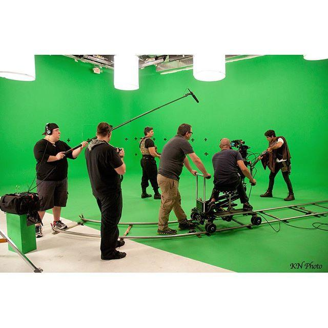 Behind the scenes still of a sci fi T.V production  #knphoto #tvproduction #nikon35mm #behindthescenes #original #scifi #greenscreen #chromakey #dolly #canon #c300 #digitaleffects #behindthescenesphotographer #studio #studiolighting #canon #c300 #dolly #setlife #hdstudio #miamiphotographer #nikon #btsphotography #nikonphotographer #madpandaproductions #jerseyboyfilms #productionstudio #studioproduction #floridaproduction #filmset #productioncrew #filmflorida #MYSHOOTBTS