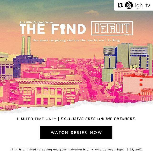 Excited that the new Season of The Find is now streaming! Had a great time color grading this season and hearing the amazing stories that are happening in Detroit! It's free for a limited time at www.lgh.tv/detroit @lgh_tv @davehansow @jesseschluntz @interpretstudios @wadeyamaguchi @mattkatsolis